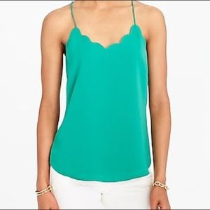 J.Crew Scalloped Cami | Green | Size 4